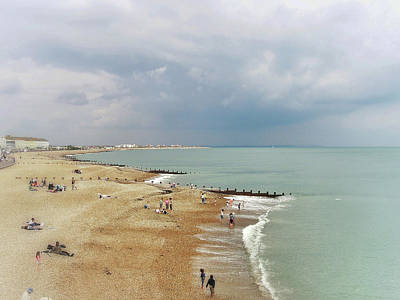 Eastbourne Photograph - One Cool Beach Day  by Connie Handscomb