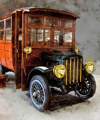 Photograph - Thee Old Stoughton Bus by Thom Zehrfeld