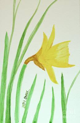 Painting - One Daffodil by Barrie Stark