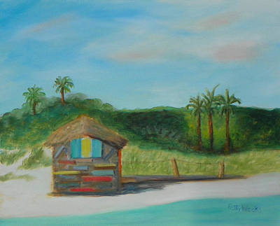 Painting - One Day At Vilano Beach by Patty Weeks