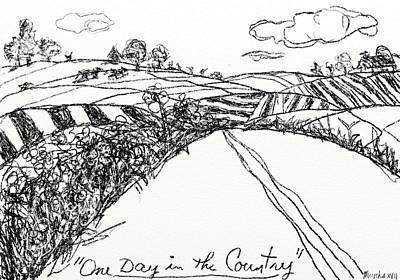 Drawing - One Day In The Country by John Stillmunks
