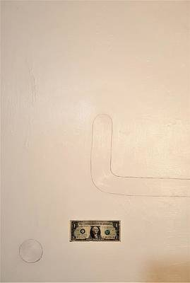 Painting - One Dollar by Radoslaw Zipper