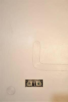 Painting - One Dollar by Radoslaw Zipper