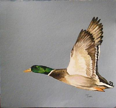 Painting - One Duck by Diane Ziemski