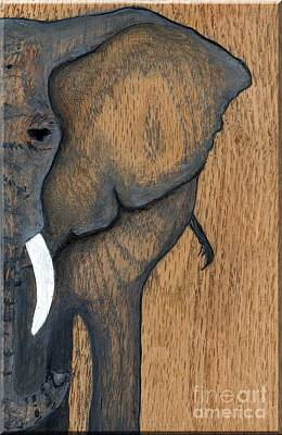 Painting - One Elephant by Minnie Lippiatt