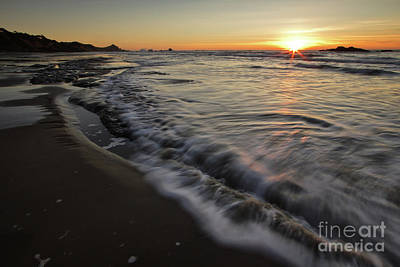 Central Oregon Coast Photograph - One Evening by Masako Metz