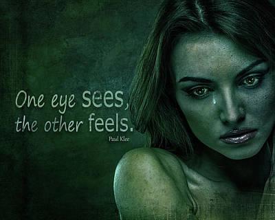 Digital Art -  One Eye Sees by Terry Fleckney