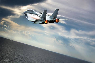 Storm Digital Art - One Fast Cat Vf-31 by Peter Chilelli
