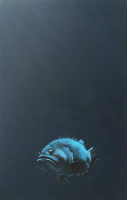 Fish Painting - One Fish by Jeffrey Bess