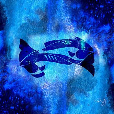 One Fish Two Fish Blue Fish Art Print