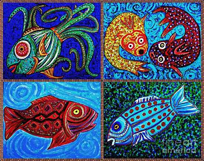 Fanciful Painting - One Fish Two Fish by Sarah Loft