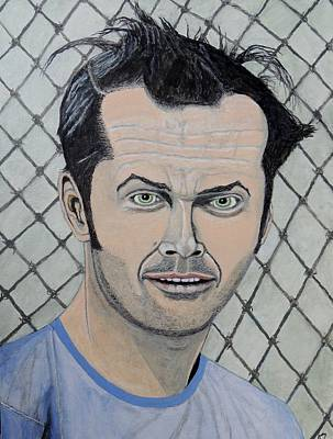 Painting - One Flew Over The Cuckoo's Nest. by Ken Zabel