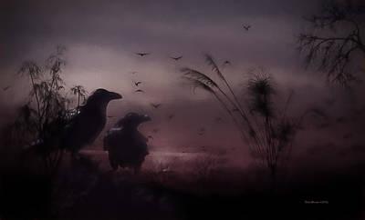 Digital Art - One Foggy Night by Ericamaxine Price