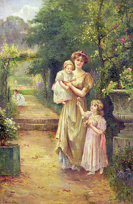 Art In The Garden Painting - One For Baby by Ernest Walbourn