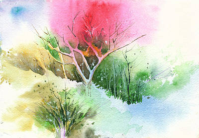 Spring Scenes Mixed Media - One For My Master by Anil Nene