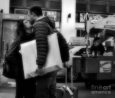 Photograph - One For The Road - The Kiss by Miriam Danar