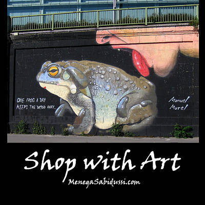 Photograph - One Frog A Day - Shop With Art by Menega Sabidussi