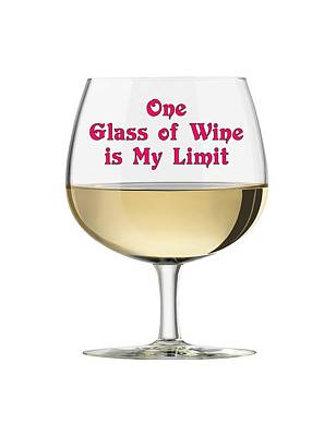 Photograph - One Glass Of Wine Is My Limit by Bob Slitzan