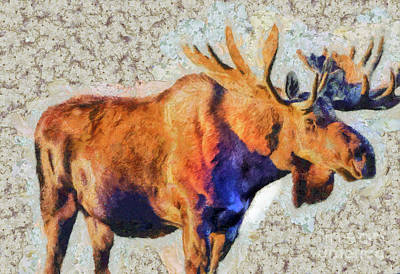 Painting - One Handsome Moose by Elaine Ossipov