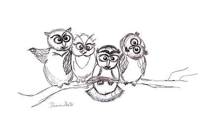 One Happy Family Art Print by Ramona Matei