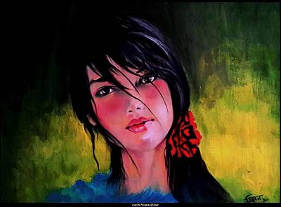 Painting - One Heart And Nothing Else by Trinath Sen