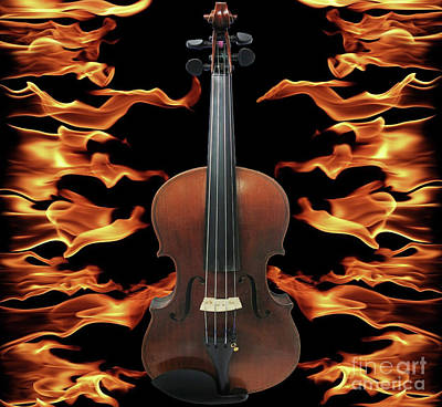 Photograph - One Hot Fiddle by Steven Parker