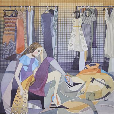 Painting - One Hundred Dresses by Ezartesa Art