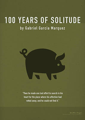 One Hundred Years Of Solitude Greatest Books Ever Series 012 Art Print