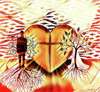 Digital Art - One In His Love by Jennifer Page