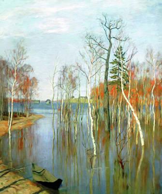Acrylic Mixed Media - One Kiss Of Autumn by Georgiana Romanovna