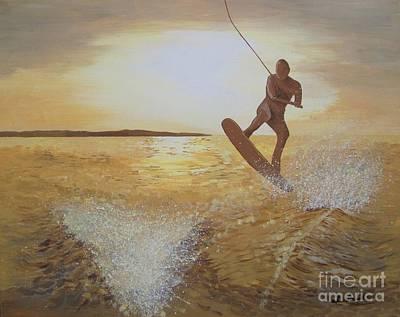 One Last Jump Art Print by Jennifer  Donald