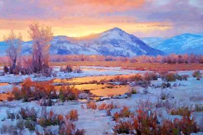 Painting - One Last Winters Eve by Joseph Barani
