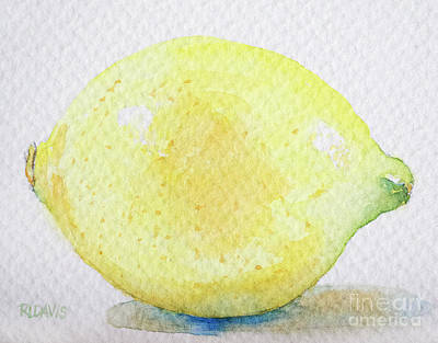 Painting - One Lemon by Rebecca Davis