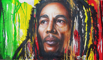 Bob Marley Artwork Painting - One Life Unfinished by Tim Miklos
