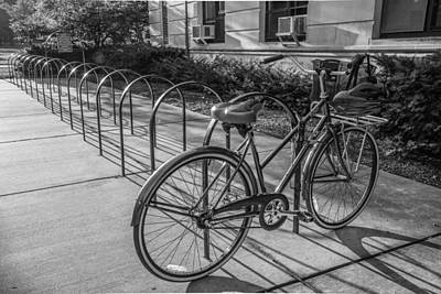 Photograph - One Lone Bike At Msu by John McGraw