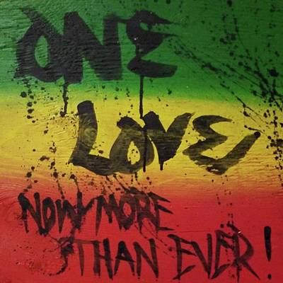 Rastafari Mixed Media - One Love, Now More Than Ever By by Eyeon Energetic