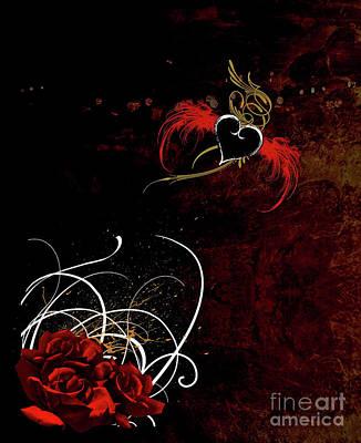 Digital Art - One Love, One Heart by Linda Lees