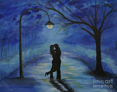 One Love One Lifetime Art Print by Leslie Allen