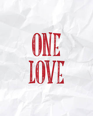 One Love Art Print by Samuel Whitton