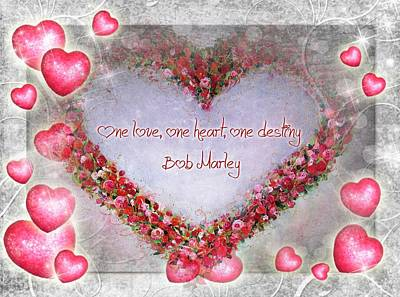 Mixed Media - One Love by Vesna Martinjak