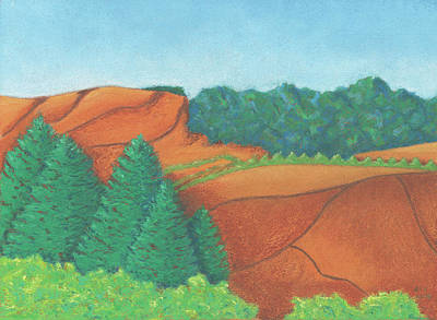 Pastel - One Mesa by Anne Katzeff
