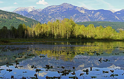 Photograph - One Mile Lake 1 by Walter Fahmy