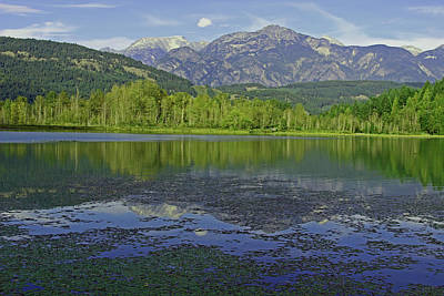 Photograph - One Mile Lake Reflections 1a by Walter Fahmy