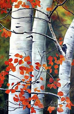 Painting - One Million Aspen Leaves by Anna-maria Dickinson