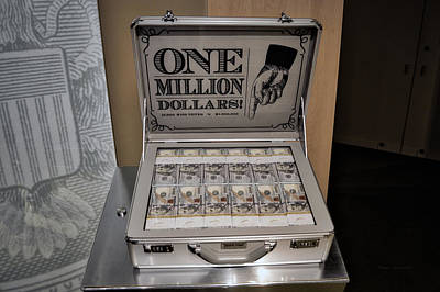 Income Mixed Media - One Million Dollars In A Case by Thomas Woolworth