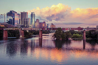Austin Skyline Wall Art - Photograph - One Minute Burn by Slow Fuse Photography