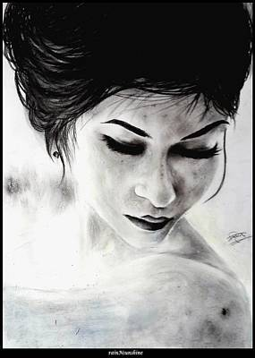 Drawing - One Moment by Trinath Sen
