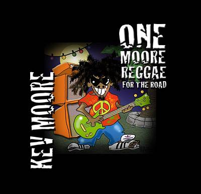 Digital Art - One Moore Reggae by Kev Moore