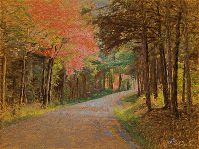 One More Country Road Art Print by John Selmer Sr