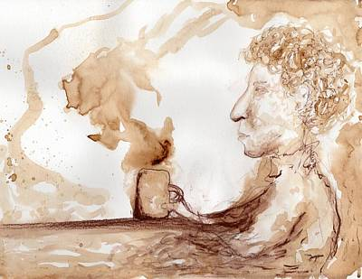 Painting - One More Cup Of Coffee For The Road by Jim Taylor